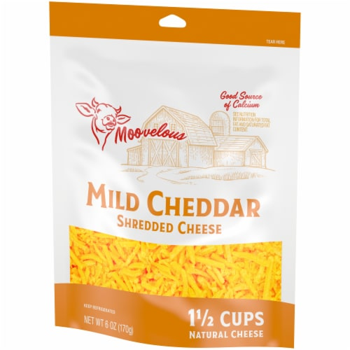 Moovelous Mild Shredded Cheese Perspective: right
