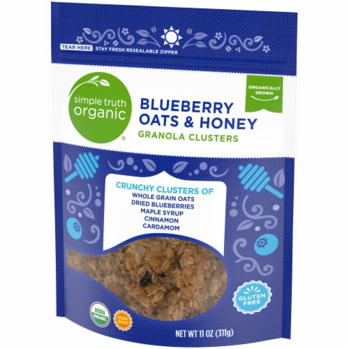 Simple Truth Organic® Gluten Free Blueberry Oats & Honey Granola Clusters Perspective: right