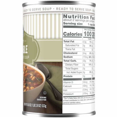 Kroger® Hearty Vegetable Soup Perspective: right