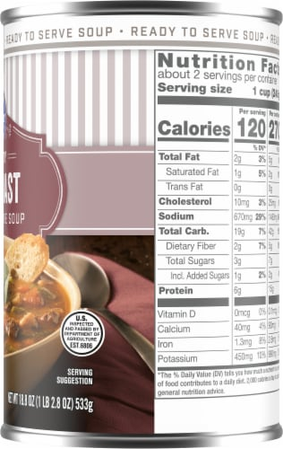 Kroger® Hearty Pot Roast Soup Perspective: right