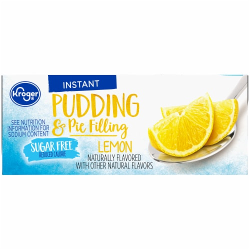 Kroger® Lemon Sugar Free Instant Pudding & Pie FIlling Mix Perspective: right