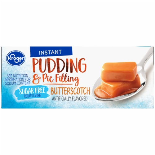 Kroger Sugar Free Butterscotch Instant Pudding Mix Perspective: right