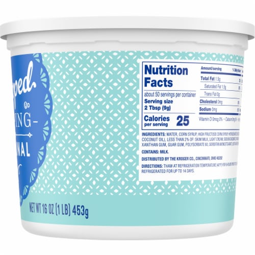 Kroger® Original Whipped Topping Perspective: right