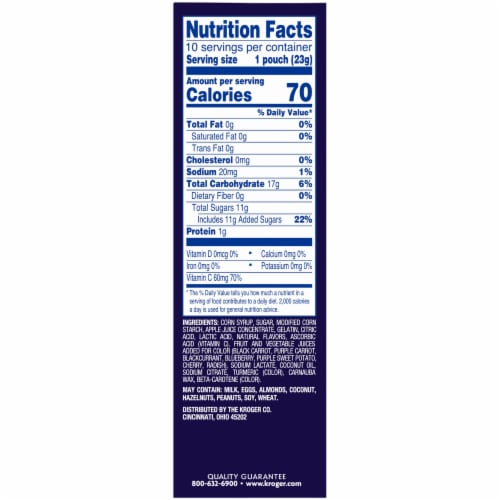 Kroger® On the Move Fruit-Flavored Snacks 10 Count Perspective: right