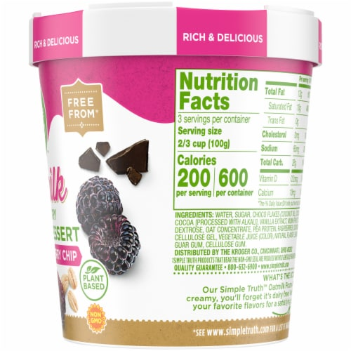 Simple Truth™ Black Raspberry Chip Oatmilk Non-Dairy Frozen Dessert Perspective: right