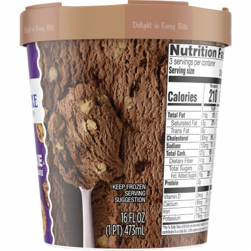 Kroger® Deluxe Brookie Brownie & Cookie Ice Cream Perspective: right