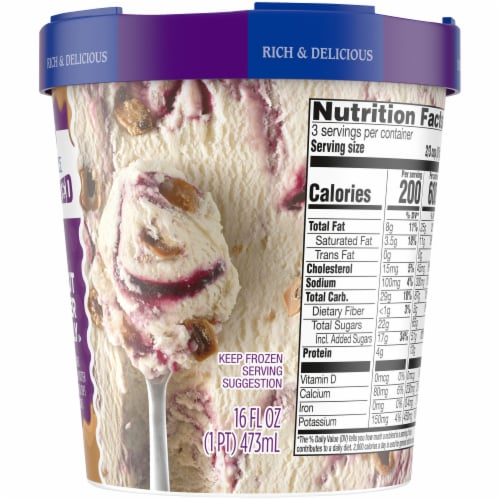 Kroger® Deluxe Peanut Butter & Jelly Ice Cream Perspective: right