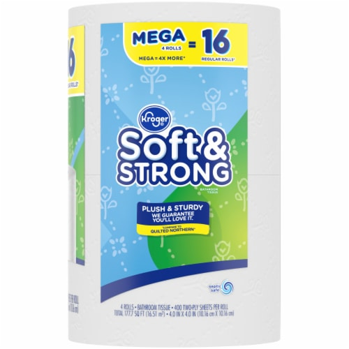 Kroger® Soft & Strong Mega Roll Bathroom Tissue Perspective: right