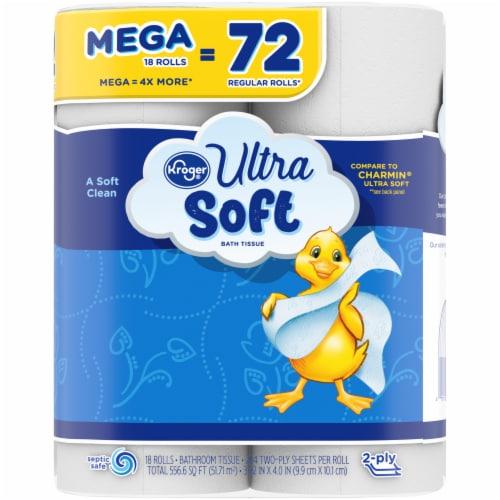Kroger® Ultra-Soft Mega Bath Tissue Perspective: right