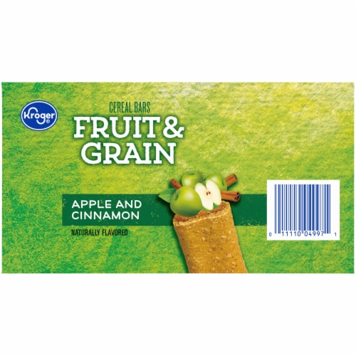 Kroger® Fruit & Grain Apple and Cinnamon Cereal Bars Perspective: right
