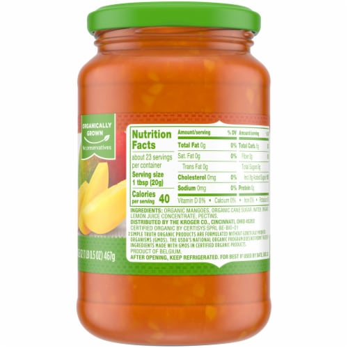 Simple Truth Organic™ Mango Chunky Fruit Spread Perspective: right