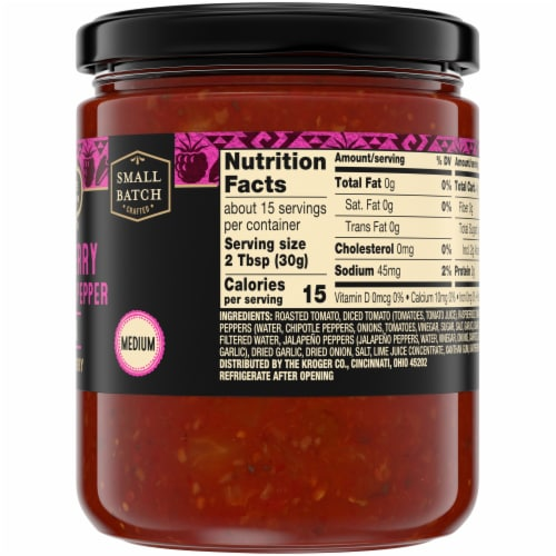 Private Selection® Medium Raspberry & Chipotle Pepper Salsa Perspective: right