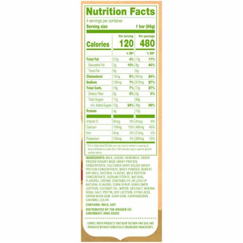 Simple Truth™ Yo Greek Sea Salt Caramel Greek Frozen Yogurt Bars 4 Count Perspective: right