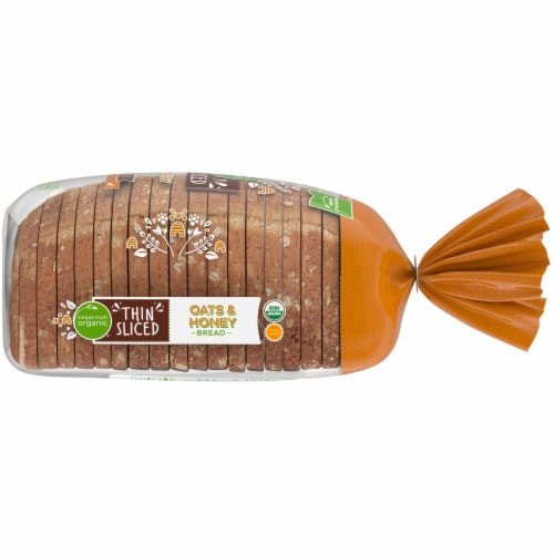 Simple Truth Organic® Oats & Honey Thin Sliced Bread Perspective: right