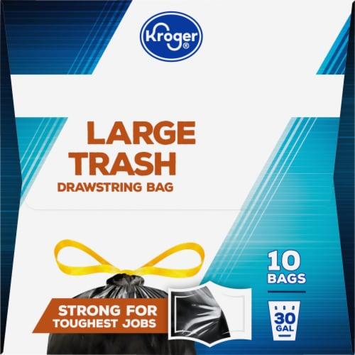 Kroger® 30 Gallon Large Drawstring Trash Bags Perspective: right