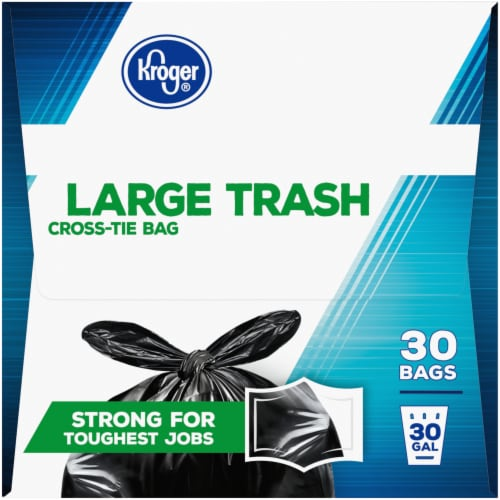 Kroger® Large Cross-Tie 30 Gallon Trash Bags Perspective: right
