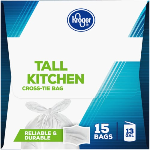 Kroger® 13 Gallon Cross-Tie Tall Kitchen Trash Bags Perspective: right