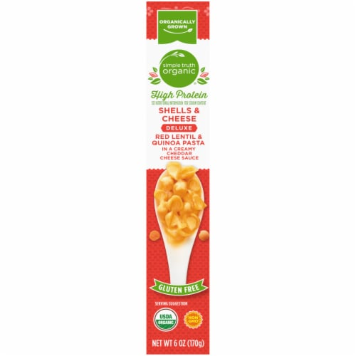 Simple Truth Organic® Gluten Free High Protein Red Lentil & Quinoa Pasta Shells & Cheese Perspective: right