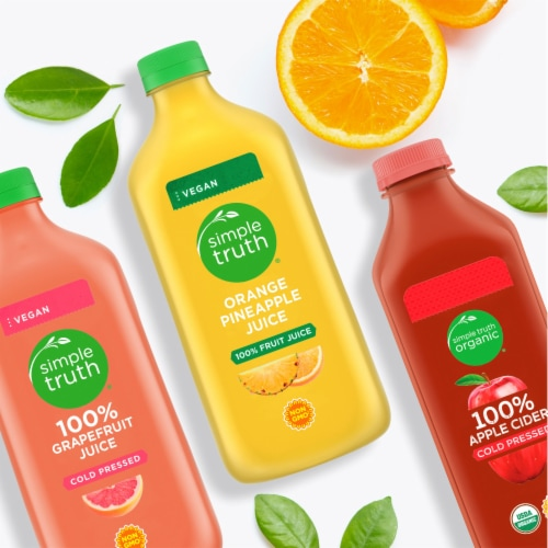 Simple Truth Organic™ Cold Pressed 100% Apple Cider Beverage Perspective: right