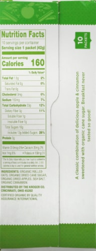 Simple Truth Organic® Apple Cinnamon Instant Oatmeal Packets Perspective: right