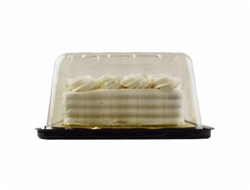 Bakery Fresh Goodness Rosette Border White Sheet Cake Perspective: right