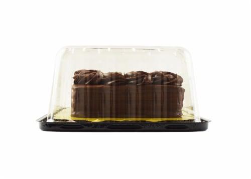 Bakery Fresh Goodness Rosette Border Chocolate Sheet Cake Perspective: right