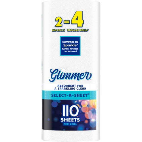 Glimmer™ Select-A-Sheet Big Roll Paper Towels Perspective: right