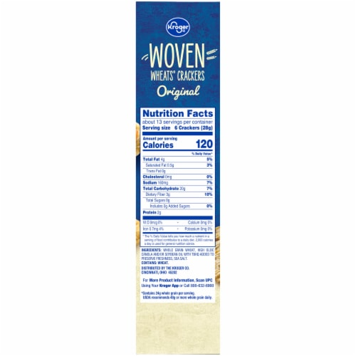 Kroger® Woven Wheats® Original Crackers Perspective: right