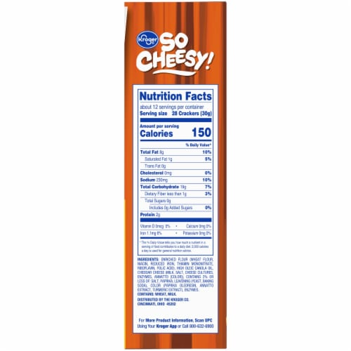 Kroger® So Cheesy! Original Baked Cheese Bits Crackers Perspective: right
