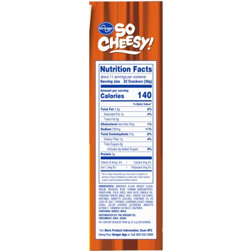 Kroger® So Cheesy! Reduced Fat Baked Cheese Bits Crackers Perspective: right