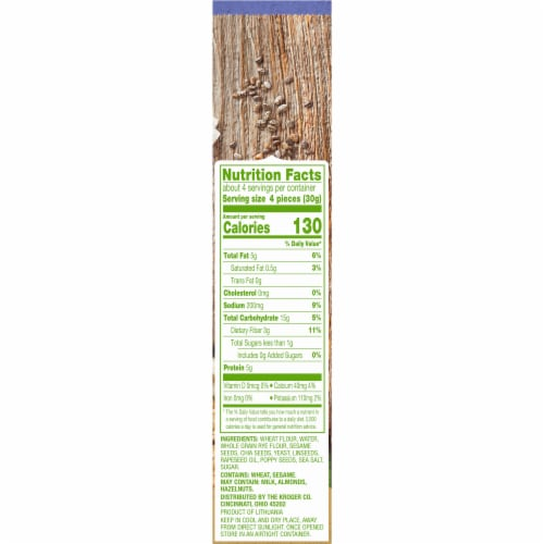 Simple Truth® Chia & Flax Flatbread Crackers Perspective: right