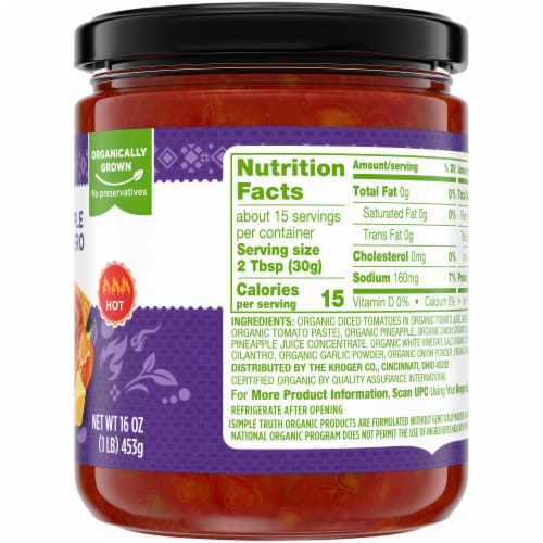 Simple Truth Organic® Pineapple Habanero Salsa Perspective: right