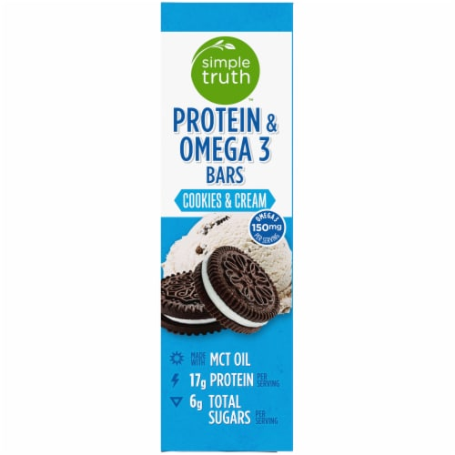 Simple Truth™ Cookies & Cream Protein & Omega 3 Bars Perspective: right