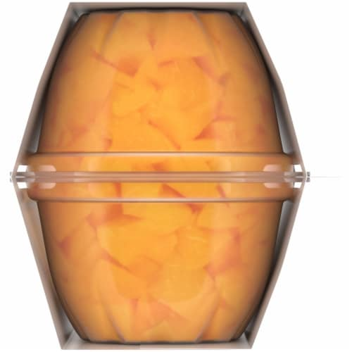 Kroger® Yellow Cling Diced Peaches Fruit Cups Perspective: right