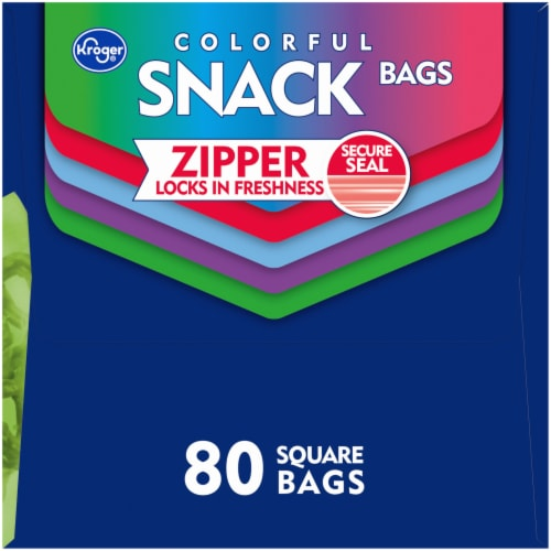 Kroger® Reclosable Colorful Assorted Square Snack Bags Perspective: right