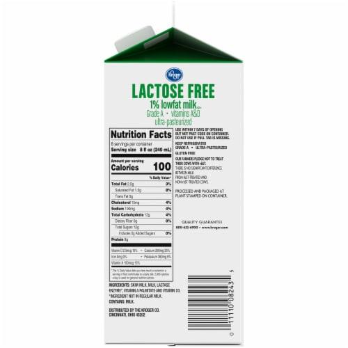 Kroger® Lactose Free 1% Lowfat Milk Perspective: right