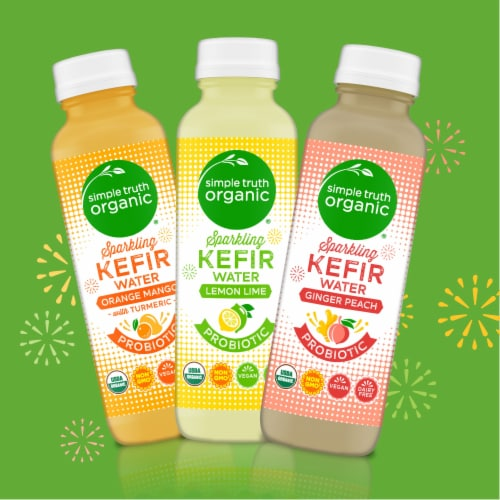 Simple Truth Organic™ Sparkling Probiotic Lemon Lime Kefir Water Drink Perspective: right