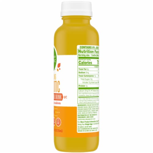 Simple Truth Organic™ Sparkling Probiotic Orange Mango Kefir Water Drink Perspective: right