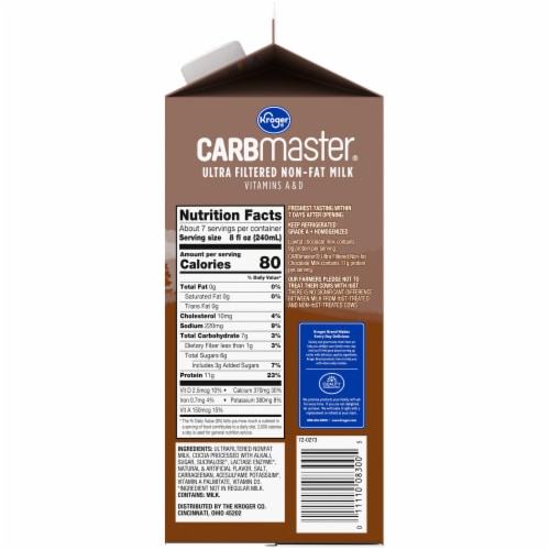 Kroger® CARBmaster® Ultra Filtered Non-Fat Chocolate Milk Perspective: right