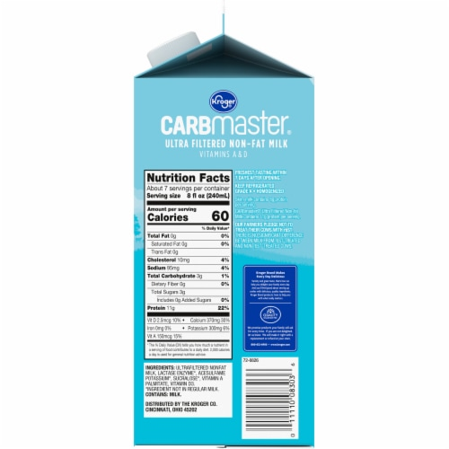 Kroger® CARBmaster® Ultra Filtered Non-Fat Original Milk Perspective: right