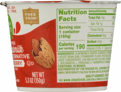Simple Truth™ Dairy Free Almondmilk Strawberry Yogurt Alternative Perspective: right