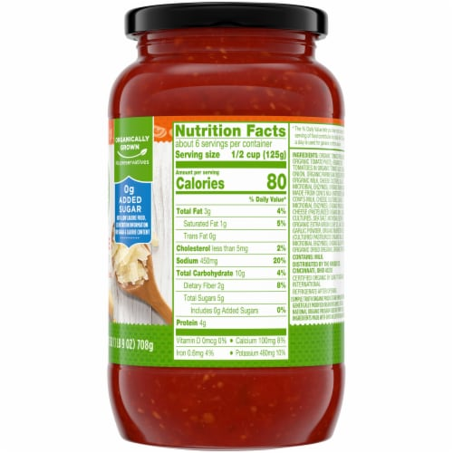 Simple Truth Organic® 4 Cheese Pasta Sauce Perspective: right