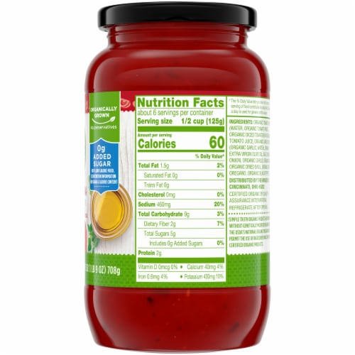 Simple Truth Organic™ Marinara Pasta Sauce Perspective: right