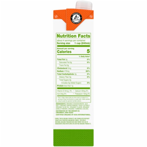 Simple Truth Organic® Fat Free Free Range Chicken Broth Perspective: right