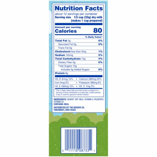 Kroger® Instant Non-Fat Dry Milk Pouches Perspective: right