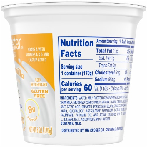 Kroger® Carbmaster® Orange Vanilla Lowfat Yogurt Perspective: right