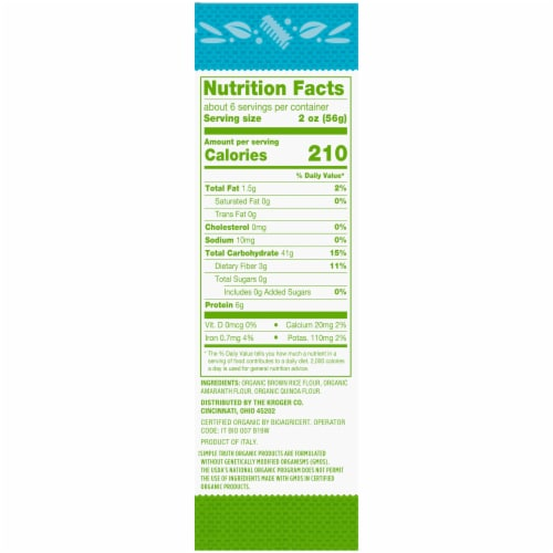Simple Truth Organic™ Gluten Free Fusilli Pasta Perspective: right