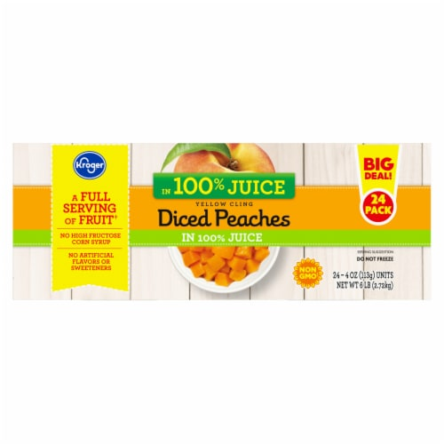 Kroger® Yellow Cling Diced Peaches Fruit Cups Family Pack Perspective: right