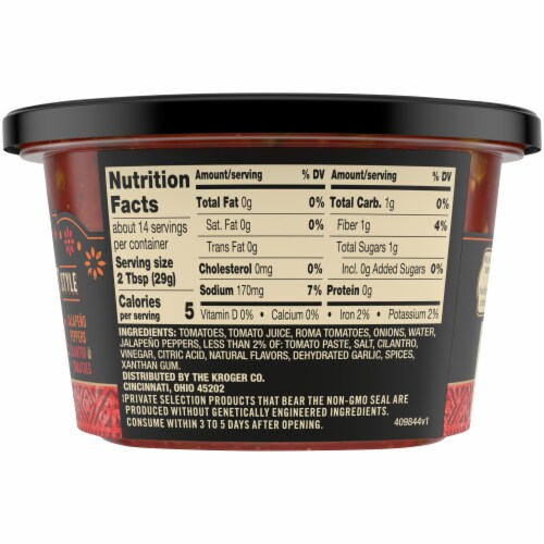 Private Selection® Hot Restaurant Style Salsa Perspective: right