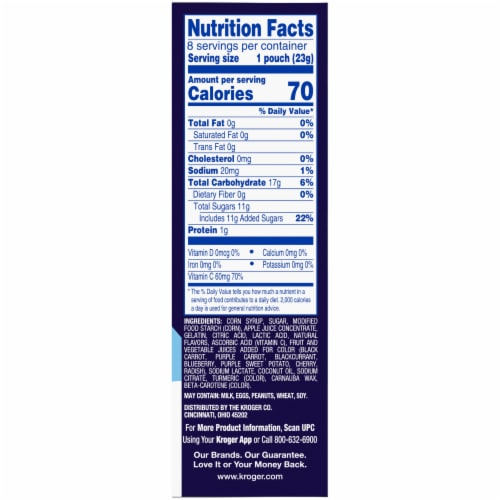 Kroger® Gluten Free On the Move Fruit Snacks Perspective: right